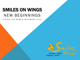 Smiles on wings - Dining for Women