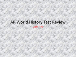 World History Test Review - Pearland Independent School