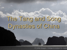 The Tang and Song Dynasties of China