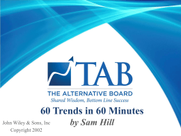 60 Trends in 60 Minutes