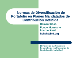 Pension Fund Portfolio Diversification Rules