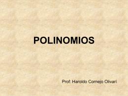POLINOMIOS - Haroldo Cornejo Olivari