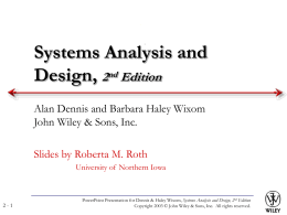 Systems Analysis and Design Allen