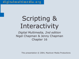 Scripting & Interactivity