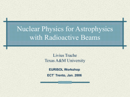 Nuclear Physics for Astrophysics with Radioactive Beams
