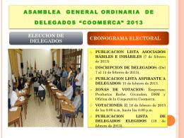 ASAMBLEA GENERAL ORDINARIA DE DELEGADOS …