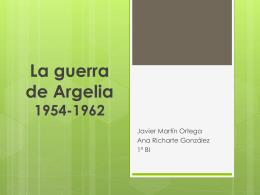 La guerra de Argelia 1954-1962