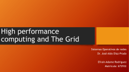 High performance computing and The Grid