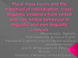 Plural mass nouns and the construal of individuation
