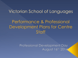 Victorian School of Languages Performance & …