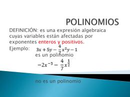 POLINOMIOS - Portal del Colegio de la Inmaculada