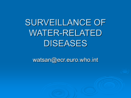 SURVEILLANCE OF WATER