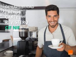 EXTRAVISIBILIDAD EXTERIOR CARTEL REVISTERO CIF NIF
