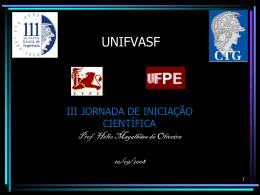 univasf Jornada IC