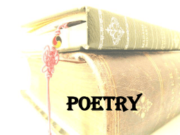 Poetry - Harrison High School