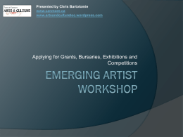 Emerging Artist Workshop