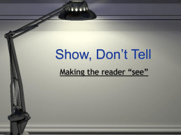 Show, Don't Tell - College of Arts and Science