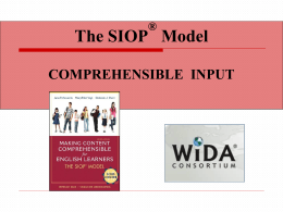 Comprehensible Input - NC English Language …