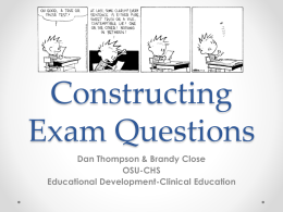 Constructing Exam Questions - Oklahoma State University
