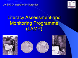 Literacy Assessment and Monitoring Programme (LAMP)