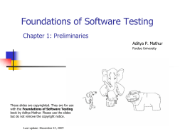 Software Testing - Purdue University