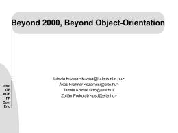 Beyond 2000 Beyond Object