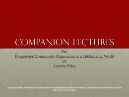 Companion Lectures