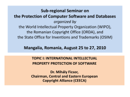 Sub-regional Seminar on the Protection of Computer