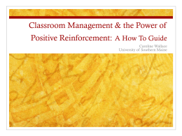 Classroom Management & the Power of Positive …