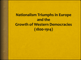 Nationalism Triumphs in Europe and the Growth of …