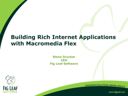 Building Rich Internet Applicatiosn with Macromedia Flex