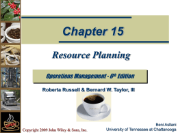 Resource Planning - Texas Tech University