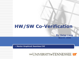 HW/SW Co-Verification - University of Tennessee