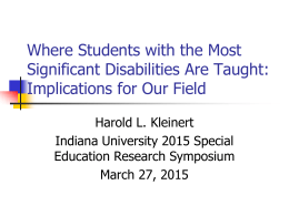 Developmental Disabilities and Mental Retardation