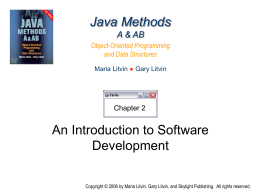 Java Methods A & AB