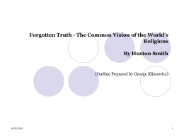 Forgotten Truth - The Common Vision of the World's