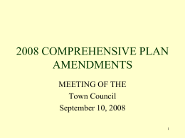 2007 COMPREHENSIVE PLAN AMENDMENTS
