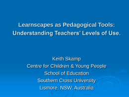 The Impact of Available Learnscapes on Teachers