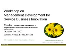 Management Development for Service Business Innovation