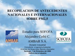 PM 2.5 Sofofa