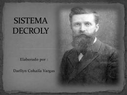 SISTEMA DECROLY
