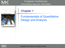 Chapter 1: Fundamentals of Quantitative Design and Analysis