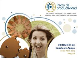 Diapositiva 1 - Pacto de Productividad