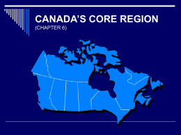Canada's Core Region - University of Minnesota Duluth