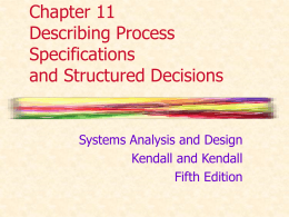Chapter 11 Describing Process Specifications and