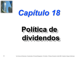 Chapter 18 -- Dividend Policy