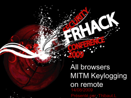 All browsers MITM Keylogging on remote