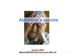 Alzheimer's vaccine Merzougui Mehdi, Mylle Alexandre, C