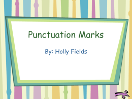 Punctuation Marks - University of Tennessee