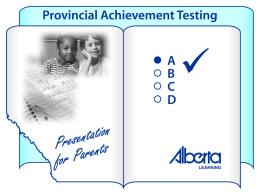 Provincial Achievement Testing